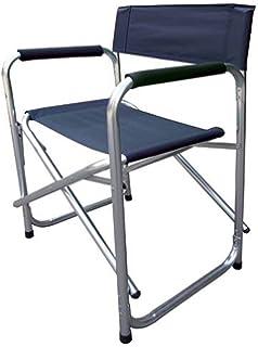 silla de director en aluminio y polister azul de tela oxford cm xxh