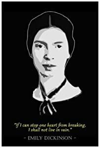 Emily Dickinson Classic Black Background Celebrity Quotes Canvas Poster Wall Art Decor Print Picture Paintings for Living Room Bedroom Cafe Club Restaurant Decoration Unframe:24×36inch(60×90cm)