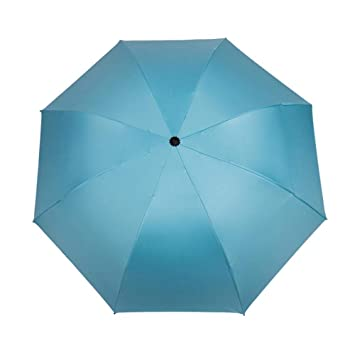 Hongge Paraguas sólido Color Negro Pegamento Protector Solar Umbrella por ciento Manual sombrilla-Paraguas Paraguas
