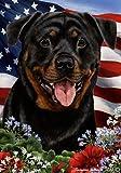 Best of Breed Rottweiler Patriotic Garden Flags