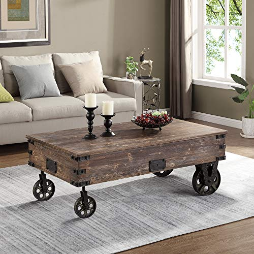 - FirsTime & Co. 70084 Factory Cart Coffee Accent Table, 45