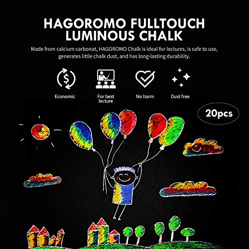 HAGOROMO Fulltouch Luminous Chalk 1 Box [5 Color Mix/20 Pcs] by Hagoromo (Image #1)