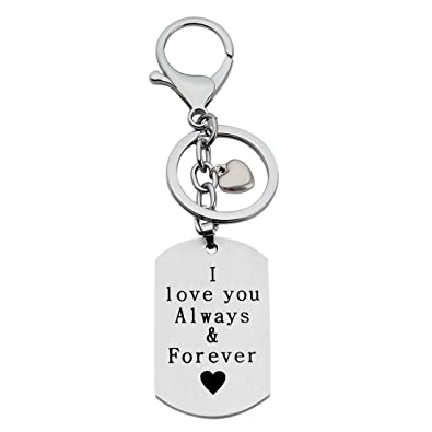 Wusuaned I Love You Always And Forever Love Quote Dog Tag Necklace