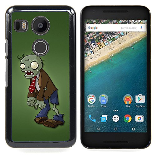 Eason Shop / Hard Slim Snap-On Case Cover Shell - Zombie Green Man Monster Cartoon Character - For LG GOOGLE NEXUS 5X (Zombie Cartoon Characters)