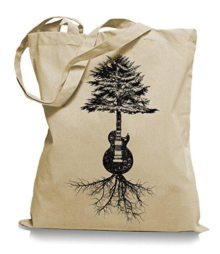 Guitar Tree Roots Stoffbeutel | Gitarrist Tragetasche Gitarre Bassist Sand mTK1Lvm