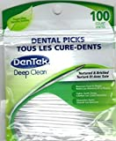 Dentek Dental Picks (Textured & Bristled for Deep Clean) with Fresh Mint, 100 Count (Pack of 6)