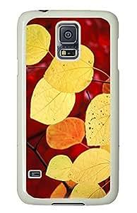 Samsung Galaxy S5 Beautiful Yellow Leaves PC Custom Samsung Galaxy S5 Case Cover White