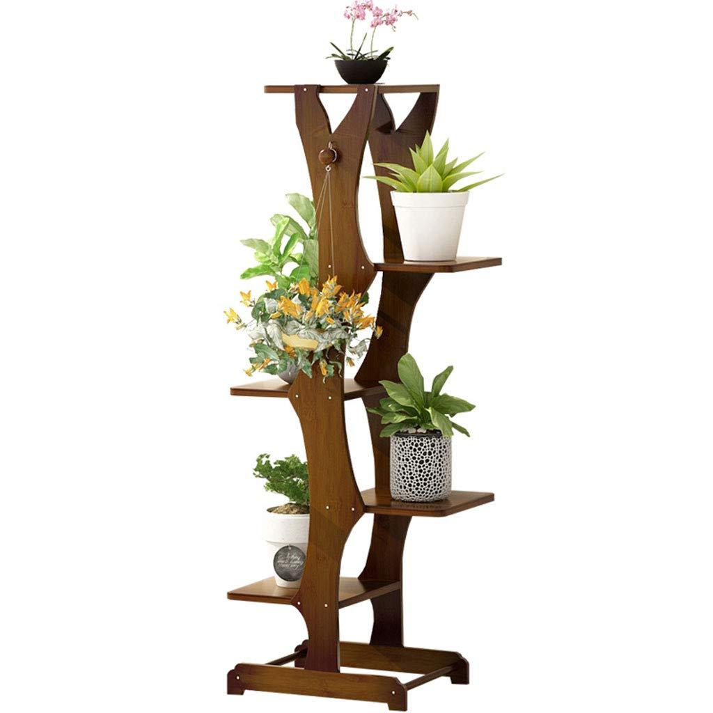 Cremagliere del fiore 3-Tier Plant Stand, Supporto per Fiori Portatile Stand per Piante da Pavimento in Legno Stand per Vaso da Fiori in Legno per Desktop da Interno
