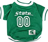 Pets First NCAA Dog Jersey, Medium, Michigan State University Spartans
