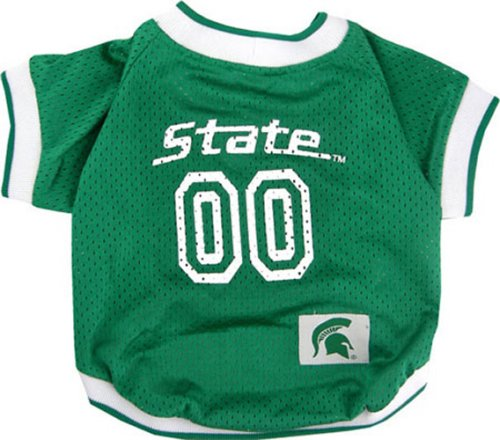 NCAA Dog Jersey, X-Small, Michigan State University Spartans