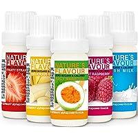 ALPHAPOWER FOOD Aromas alimentarios por repostería y bebidas I Súper pack ahorro 5x10ml, Vegano, 100% naturales con…