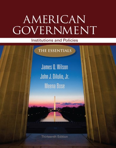 Download American Government: Institutions and Policies: The Essentials Pdf