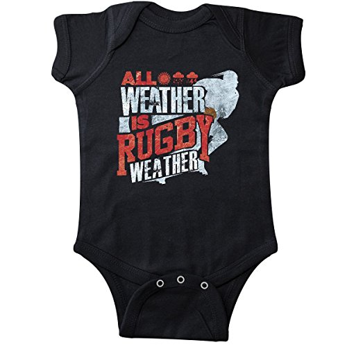 inktastic Rugby Weather Infant Creeper 24 Months Black 2fc81 (330 Rugby)
