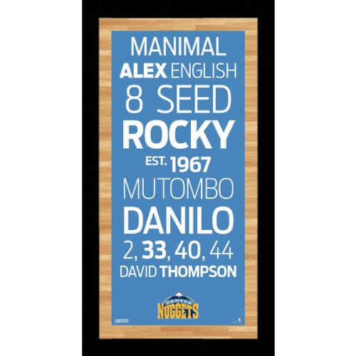 NBA Denver Nuggets Framed 9.5x19 Subway Sign Wall Art ()