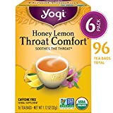Yogi Tea - Honey Lemon Throat Comfort - Soothes the Throat - 6 Pack,...