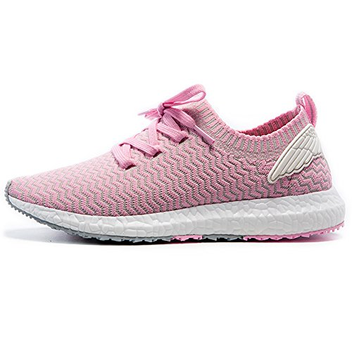 Onemix Damesschoenen Casual Mode Ademend Mesh Sneakers Roze / Grijs