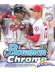 2018 Bowman Chrome Baseball Factory Sealed HOBBY Box with TWO(2) AUTOGRAPHS! Look for RC's & Auto's of Shohei Ohtani, Estevan Florial, Ronald Acuna, Carlos Rincon, Gleyber Torres & Many More! WOWZZER!