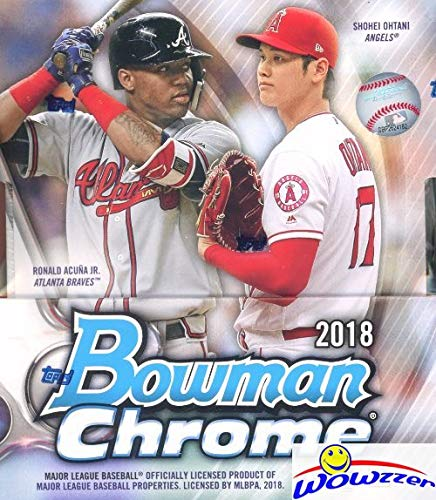 2018 Bowman Chrome Baseball Factory Sealed HOBBY Box with TWO(2) AUTOGRAPHS! Look for RC's & Auto's of Shohei Ohtani, Estevan Florial, Ronald Acuna, Carlos Rincon, Gleyber Torres & Many More! WOWZZER! from Bowman