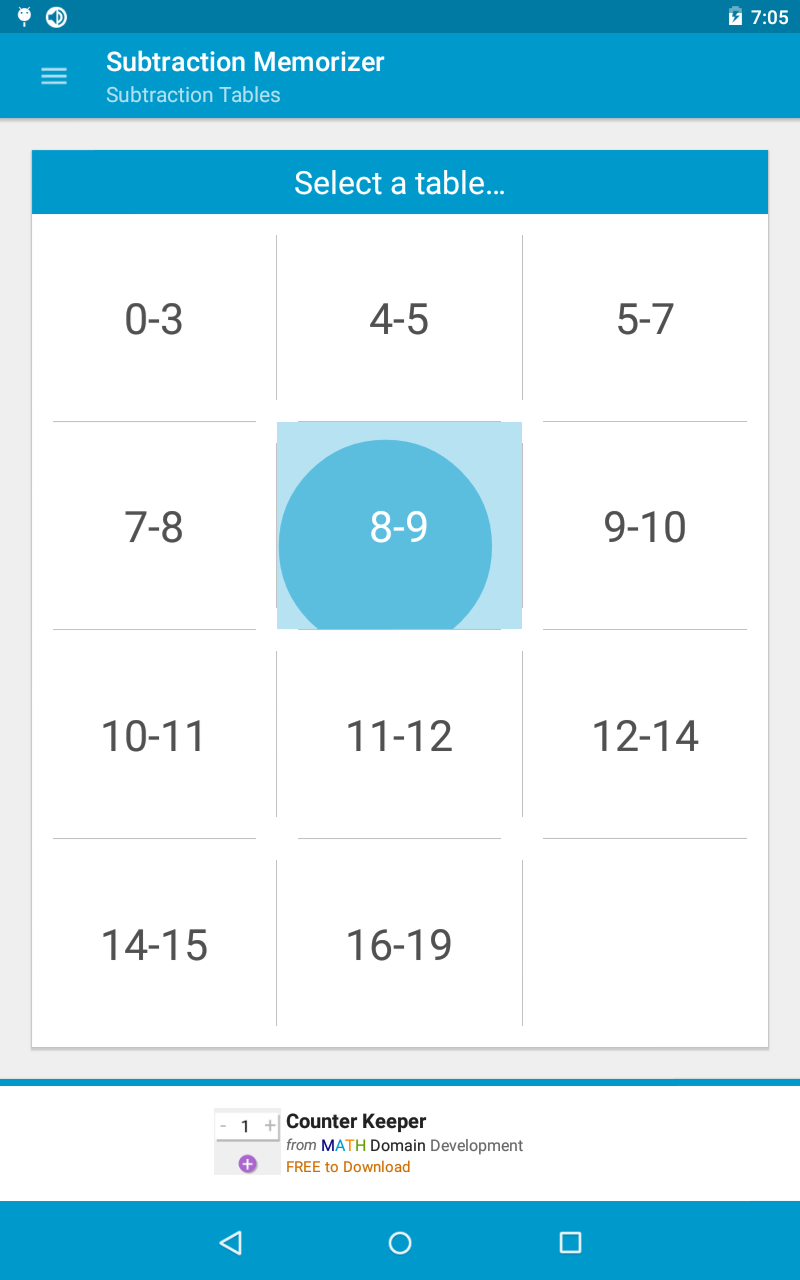 Amazon.com: Subtraction Memorizer: Appstore for Android