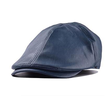 Amlaiworld Gorras de Cuero Vintage Beret de Hombre Mujer Sombrero Plano  Niños niñas Viseras Unisex Boina Sombrero 7e5bca9ed68