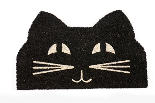 Entryways Funny Doormat Cat Face Non-Slip Coir Fiber Doormat Deal (Large Image)