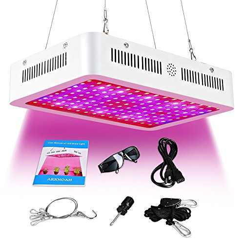 ARKNOAH 300W Full Spectrum LED Grow Light for Hydroponic Indoor Greenhouse Grow Tent Garden Plants Growing in Veg and Flowering Stages (White) by ARKNOAH