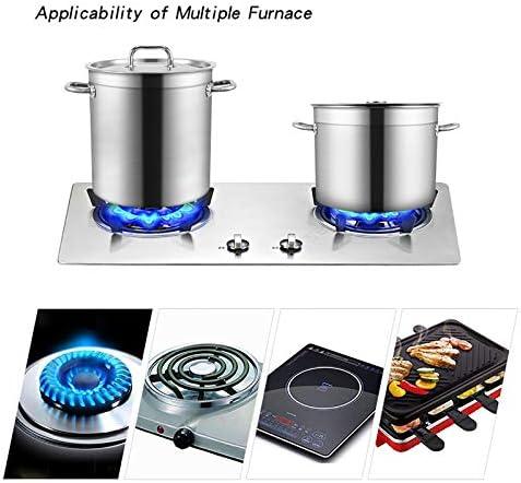 HEAVY Grande capacité Pot, Stockpots, Marmite Pot en Acier Inoxydable, Coffre-Fort Marmite avec Couvercle (30,5/35,5/40,5/45,5 cm) (Size : 30.5 * 30cm)