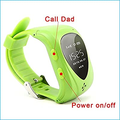Gogo First (Tm) Waterproof Gsm/ Gprs/ Gps 2 Way Talk Tracker Babysiter Smart Watch Compatible with Kids Children Child with Real-time Tracking, Geo-fencing, Phone Options Functions for IOS Android Apple Iphone 6/ 6 Plus 5s 5c 5 4s, Samsung Galaxy S6 S5 S4