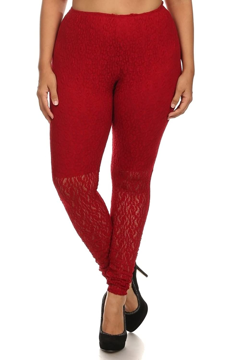 CANARI- New Collection Women's Plus Size Red Legging pants