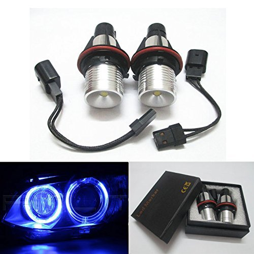 GFJMC 2 Blue Angel Eyes Car Bulb for BMW E39 E53 E83 E60 E61 E64 E65 E66(12V 6W) Error Free