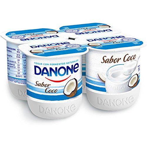 Danone - Yogur Sabor Coco, Pack 4 x 125 g: Amazon.es: Alimentación y bebidas