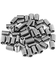 Stainless Steel Wire Thread, 50pcs SS304 Coiled Wire Helical Thread Inserts M6 x 1.0 x 3D Length