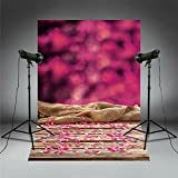 Backdrop For Baby Girl Pictures Rose Petal Floral Photography Background Birthday Banner Photobooth Photocall FD1955