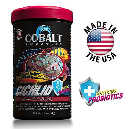 Cobalt Aquatics Cichlid Fish Food Flakes with Probiotics ()