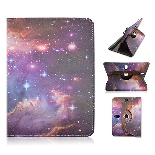 "Ematic Genesis Prime 8"" 8 inch Tablet Galaxy Stars Universal Case Cover - Adjustable 360 Rotating Stand Design -  EZBazar"