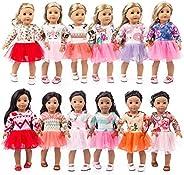 Zippem DIY Girls Doll Clothes Cosplay Dress Up Costume Doll Clothes Accessories Doll Accessories