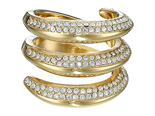 Michael Kors Women's Fashion Tribal Pave Ring Gold 6 (Michael Kors Rings Size 6)
