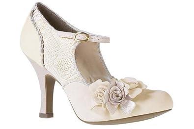 Ruby Shoo Emily F11010Crm - Escarpins mariage talon haut - couleur crème -  UK7 EU40 42e468136884