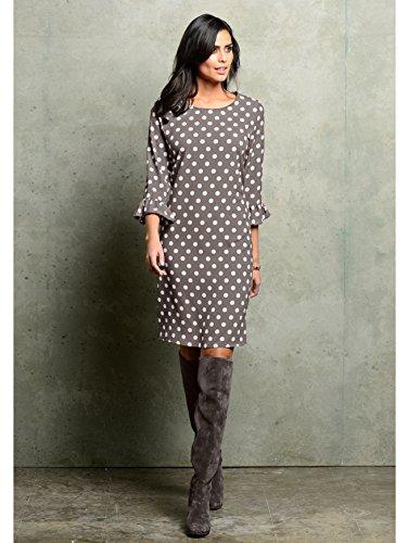 by Punktedessin Damen Kleid Alba Fließend in Modischem Taupe Moda wHw7xX0