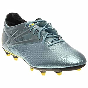 adidas Messi 15.2 FG/AG Cleats - Matte Ice Metallic/Bright Yellow/Black - Mens - 10.5
