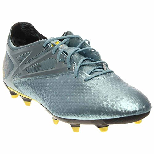 adidas Messi 15.2 FG/AG Cleats - Matte Ice Metallic/Bright Yellow/Black - Mens - 10.5