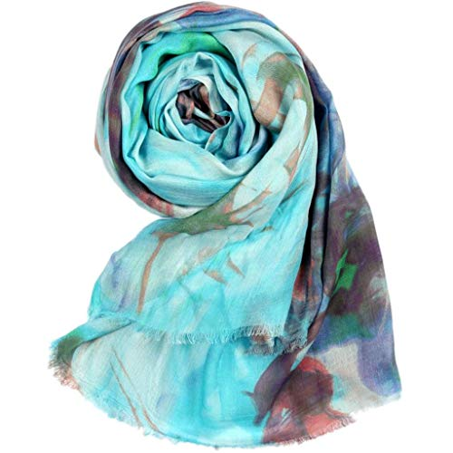 Scarves Long Female Scarf Autumn and Winter Women's Cashmere Worsted Blended Printed Shawl Women Lady Print Scarf Shawl Scarves Wrap 2 Colours Wraps (Color : Pink, Size : 20085cm)