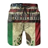 PPANFKEI American-Mexican Flag Mens Concise Quick Dry Lightweight Boardshorts Loose Fit Lined Athletic Shorts With Pockets For Surf Running Swimming Watershort