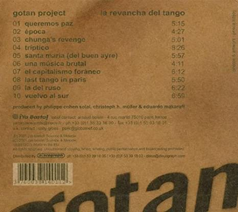 La Revancha Del Tango : gotan project: Amazon.es: Música