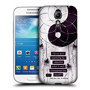 Head Case Designs Give Evil Nothing Yin and Yang Collection Protective Snap-on Hard Back Case Cover for Samsung Galaxy S4 mini I9190 Duos I9192 by ruishername