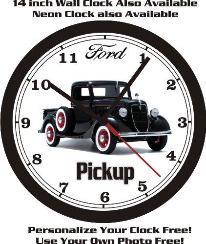 1935 FORD HALF TON PICKUP WALL CLOCK-FREE USA - 1935 Ford Pickup