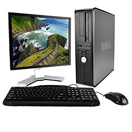 Dell Desktop Computer Package with WiFi, Dual Core 2.0GHz, 80GB, 2GB, Windows 10 Professional, 17″ Monitor (Certified Refurbished)