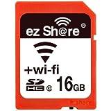 16GB SDHCカード SDカード Wi-Fi機能搭載 ezShare Class10 Android/iOS両対応 海外リテール Wi-FiSD-16G
