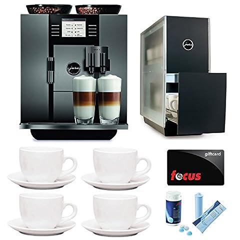 JURA GIGA 5 (13623) Cappuccino and Latte Macchiato System with Jura Capresso Cup Warmer and Deluxe Accessory Bundle (Certified - Jura Capresso Thermal Milk Container