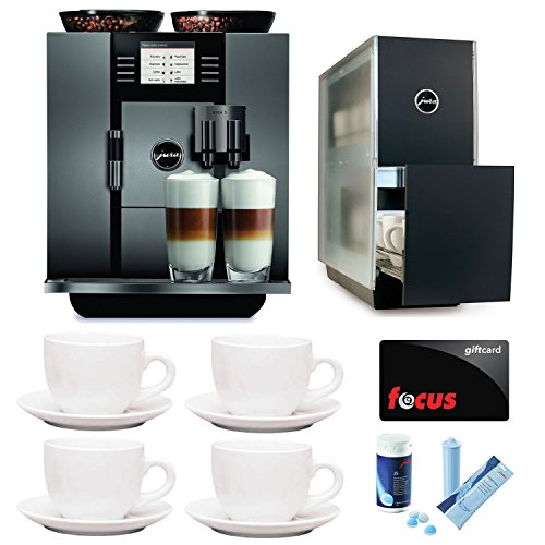 JURA GIGA 5 (13623) Cappuccino and Latte Macchiato System with Jura Capresso Cup Warmer and Deluxe Accessory Bundle (Certified Refurbished)